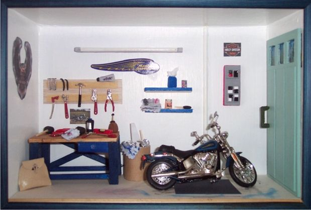 décoration garage moto